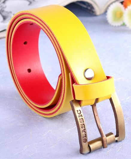 London Fashion Solid Belt - Yellow