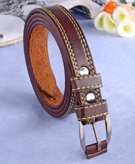 London Fashion Solid Colour Belt - Brown