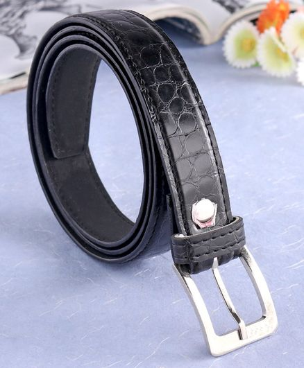 London Fashion Solid Belt - Black