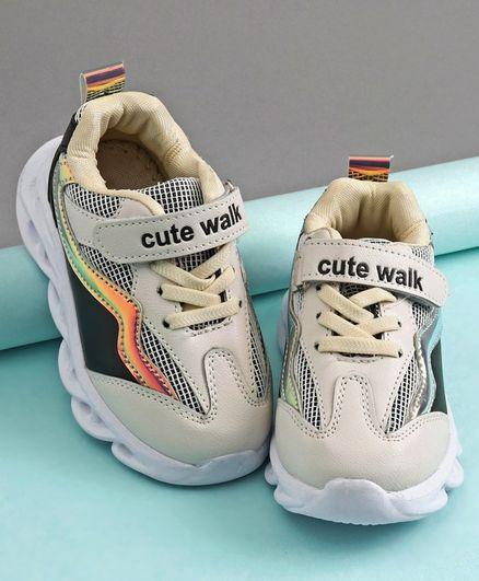 Cute Walk by Babyhug Sports Shoes - Beige