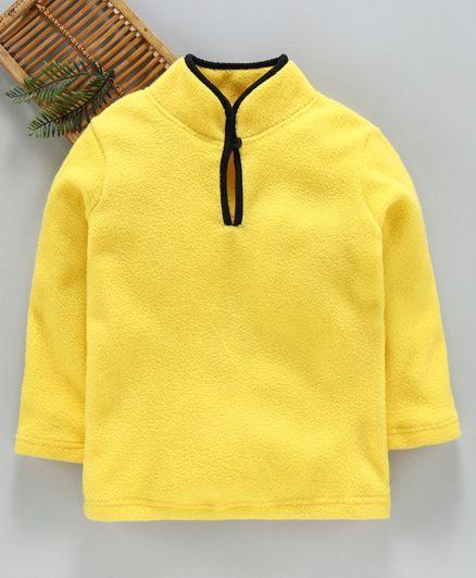 Hugsntugs Solid Full Sleeves Winter Tee - Yellow