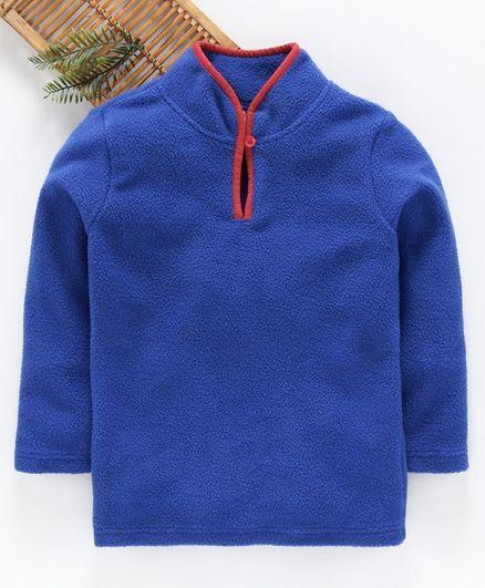 Hugsntugs Solid Full Sleeves Winter Tee - Blue