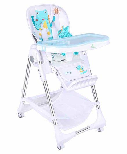 R for Rabbit Marshmallow Feeding High Chair - Light Blue