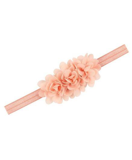Bellazaara Flower Detailed Headband - Peach