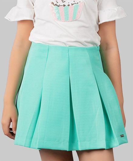One Friday Pleated Skirt - Green