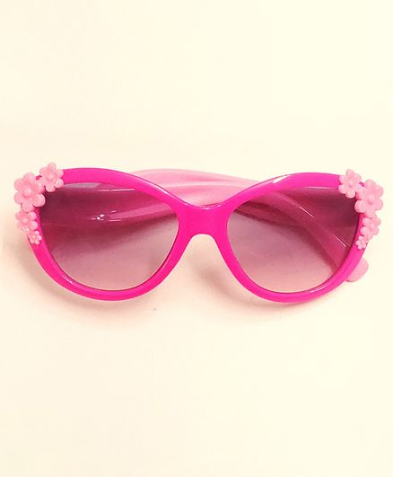 Kid-O-World Flower Applique Sunglasses - Pink