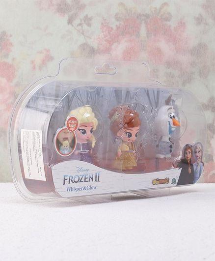 Disney Frozen II Whisper & Glow 3D Mini Figures Pack of 3 Multicolor - Height 7 cm