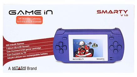 Mitashi GAMEin Smarty V 1 Gaming Console Blue - 3 Inches
