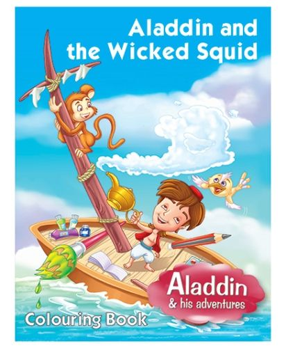 Pegasus Coloring Book Aladdin And The Wicked Squid - English