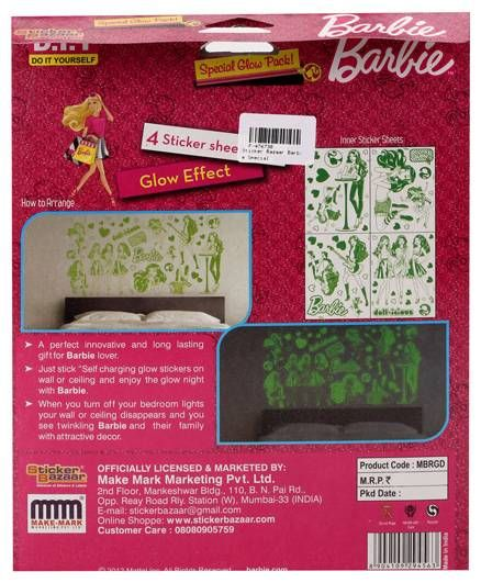 Barbie Special Glow Pack 4 Sheets Online in India, Buy at Best Price ...