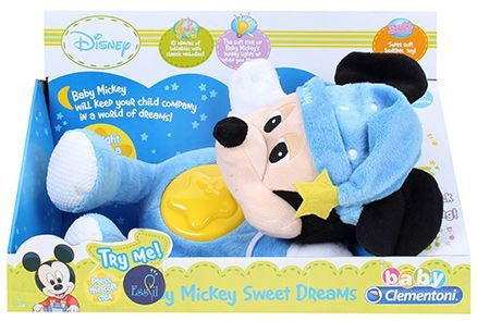 Disney Minnie Mouse Night Plush Musical Toy Blue - Height 36 cm
