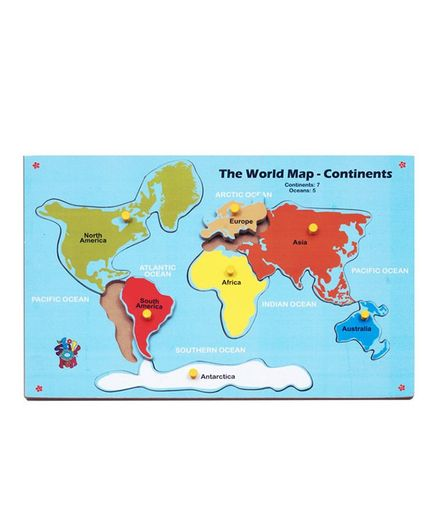 Skillofun wooden map of continent multicolour online india buy skillofun wooden map of continent multicolour gumiabroncs Images