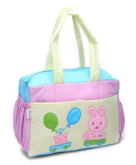 Duck Diaper Bag With Bottle Cover And Bib Rabbit Patch