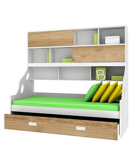 Alex Daisy Wooden Bunk Bed Hybrid - Oak