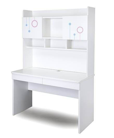 Alex Daisy Wooden Study Table Prism   White