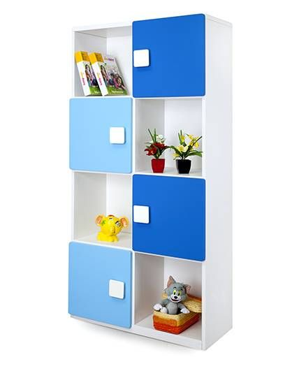 Alex Daisy Wooden Four Layer Bookcase - Blue