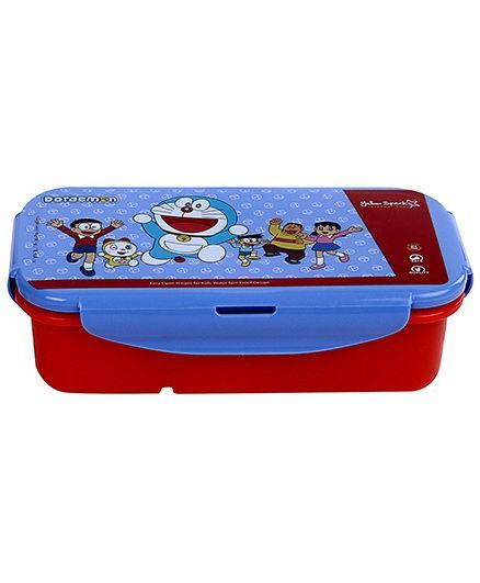 Doraemon Lunch Box Clip Locks - Blue And Red