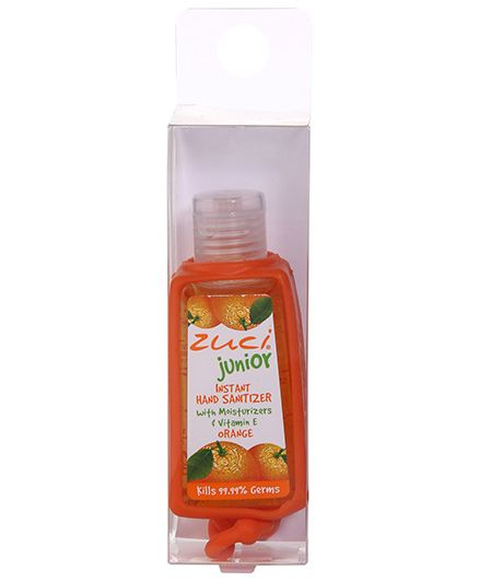 Zuci Junior Hand Sanitizer Orange And Bag Tag - 30 ml