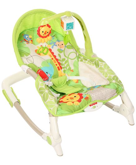 Fisher Price Newborn to Toddler Rocker With Free Diaper Bag - Green