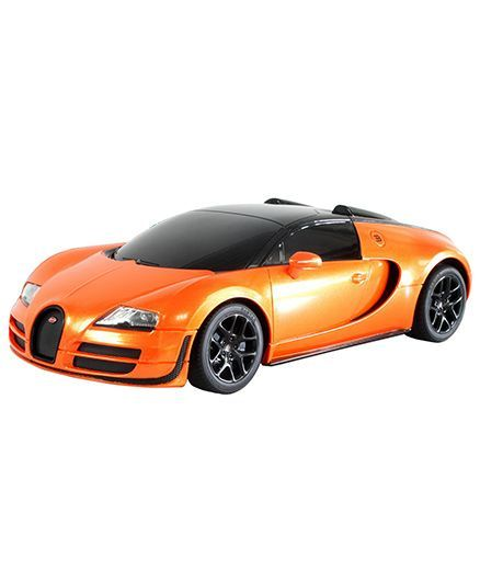 Rastar Bugatti Veyron Grand Sport Vitesse Remote Control Car   Orange And  Black