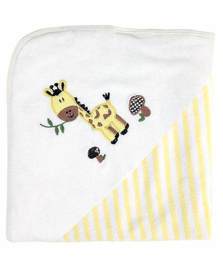 My Milestones Premium Hooded Towels Stripe Pattern - Lemon Yellow