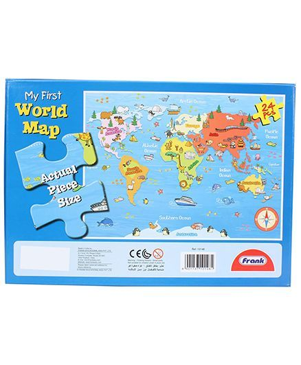 Frank my first world map puzzle 24 pieces online india buy puzzle frank my first world map puzzle 24 pieces gumiabroncs Images