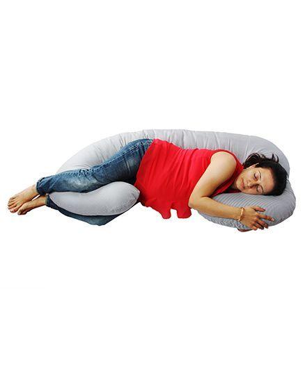 Comfeed Pillows By Nina C Pregnancy Pillow - Black & White Checks