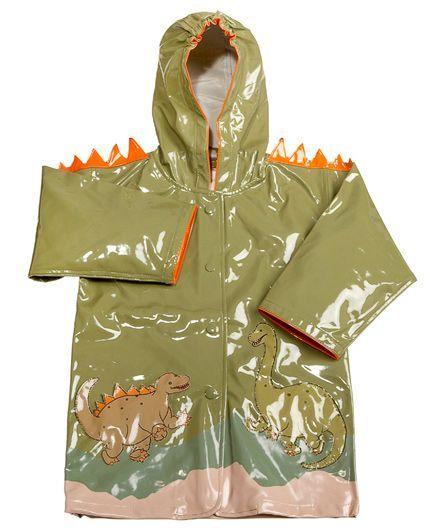 Kidorable Dinosaur Raincoat - Green