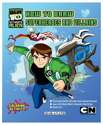 Ben 10 How to Draw Superheroes And Villians - English