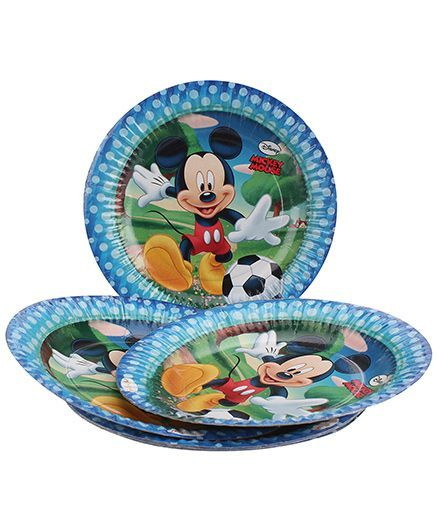 Disney Mickey Mouse And Friends Paper Plates Blue - Diameter 16.5 cm