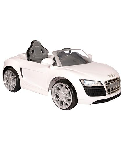 Toyhouse R8 Spyder Rechargeable Ride-On Car - White