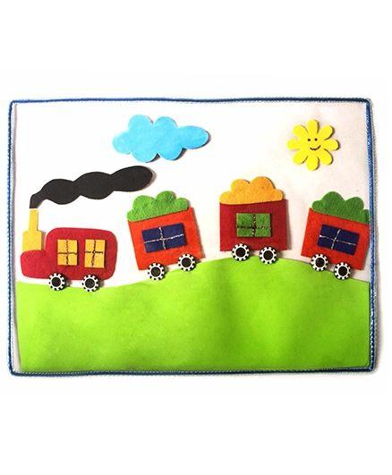 Train Table Mat - Multicolour