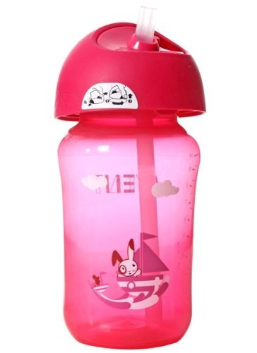 Avent Straw Cup Pink 340 ml