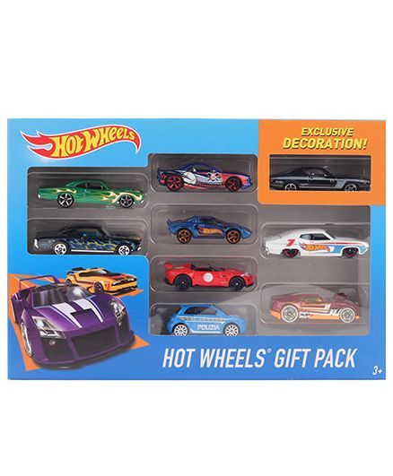 Hot Wheels Car Set 9 Cars (Color & Design May Vary) for (4-10 ...