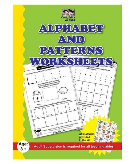 Creativity 4 Tots Alphabet And Pattern Writing 34 Working Sheets ...