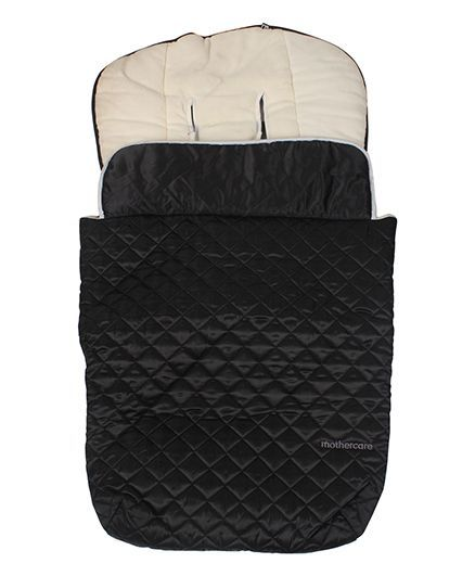 Mothercare Deluxe Quilted Cosytoe - Black