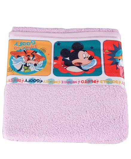 Mickey Mouse And Friends Printed Towel - Pink