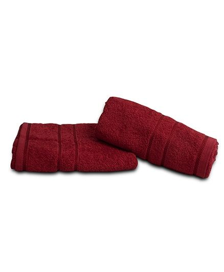 Sassoon Plain Dyed Bath Towel - Burgundy