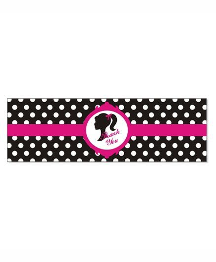 Prettyurparty Barbie Wrist Bands - Pink and Black