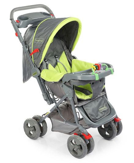 Elite Stroller (Green & Grey)