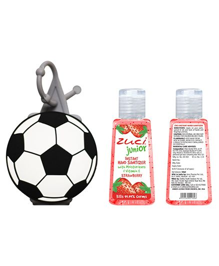 Zuci Junior Hand Sanitizer And Football Bag Tag 30 ml (Flavors May Vary)