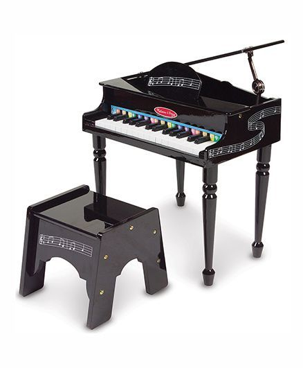 Melissa & Doug Grand Piano With 30 Tune Keys - Black