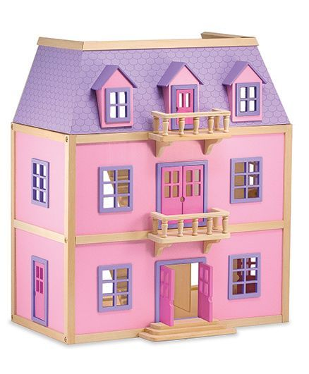 Melissa And Doug Multi Level Wooden Doll House