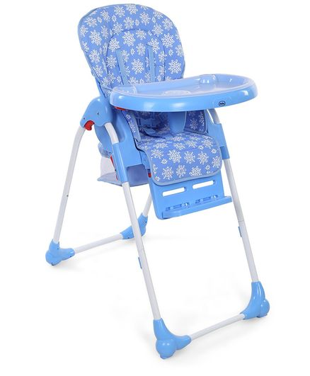 Babyhug Easy Diner High Chair With 5 Adjustable Heights & 3 Level Seat Recline - Blue