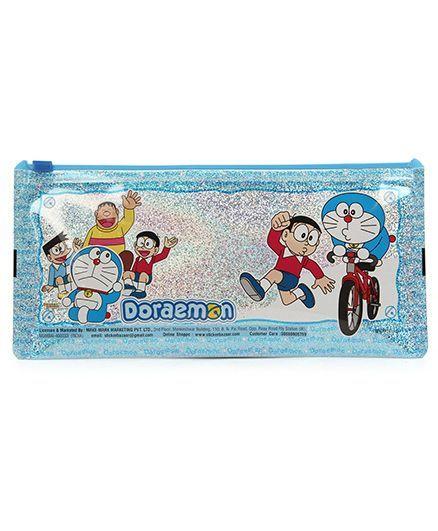 Doraemon Sparkle Pencil Pouch - Blue