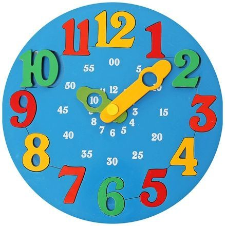 Little Genius Wooden Time Learning Clock Blue Online India, Buy ...
