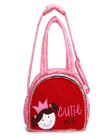 Little Pipal Cutie Pie Diaper Bag And Changing Mat - Red