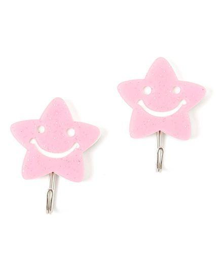 EZ Life Pack Of 2 Shining Star Glitter Hook - Pink