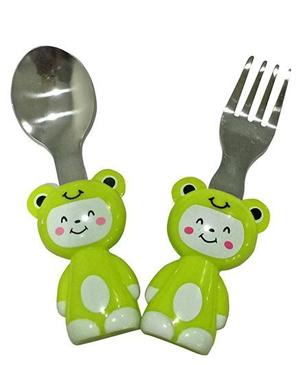 EZ Life Cat Cutlery Set - Green