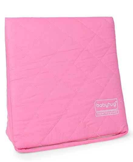Babyhug Maternity Wedge Pillow With Quilted Cover - Pink